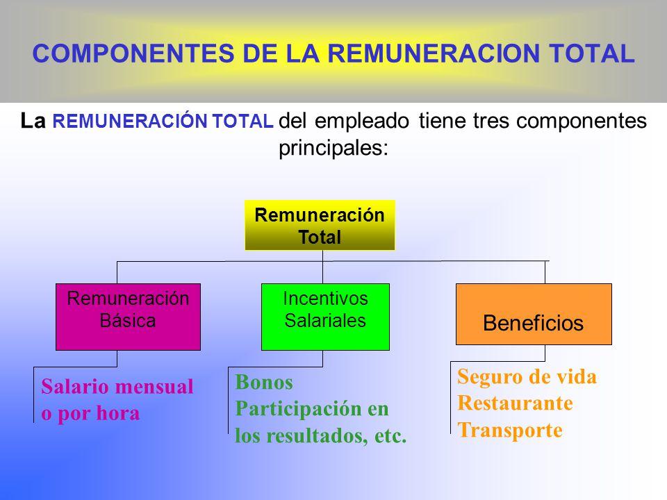 COMPONENTES DE LA REMUNERACION TOTAL