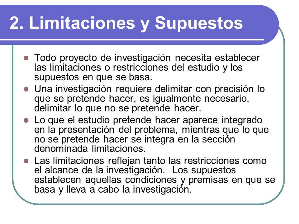 2. Limitaciones y Supuestos