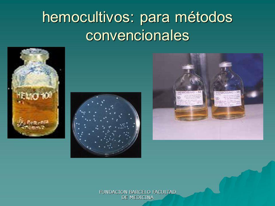 hemocultivos: para métodos convencionales