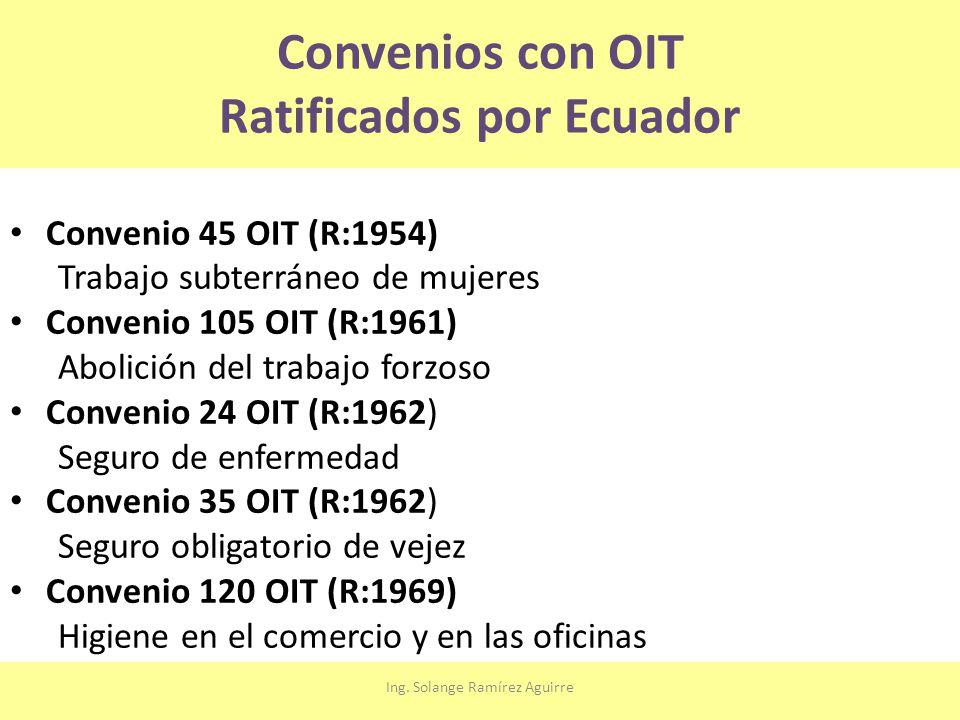 Convenios con OIT Ratificados por Ecuador