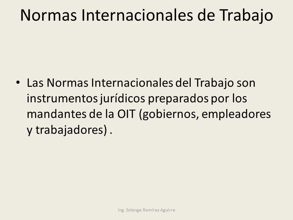 Normas Internacionales de Trabajo