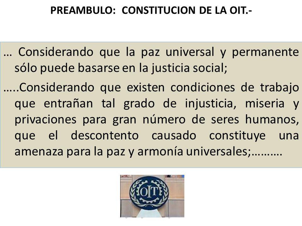 PREAMBULO: CONSTITUCION DE LA OIT.-