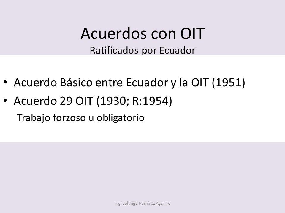 Acuerdos con OIT Ratificados por Ecuador