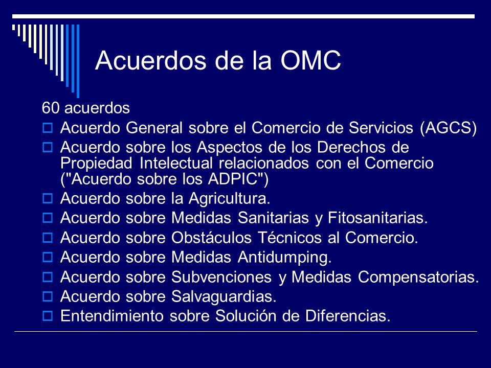 Acuerdos de la OMC 60 acuerdos