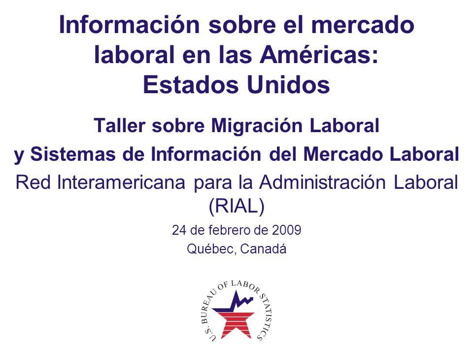 Información sobre el mercado laboral en las Américas: Estados Unidos