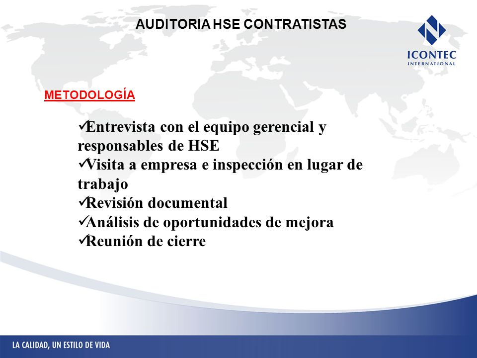 AUDITORIA HSE CONTRATISTAS