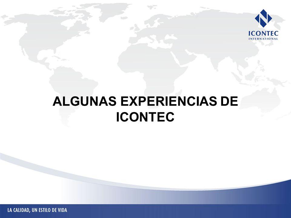 ALGUNAS EXPERIENCIAS DE ICONTEC