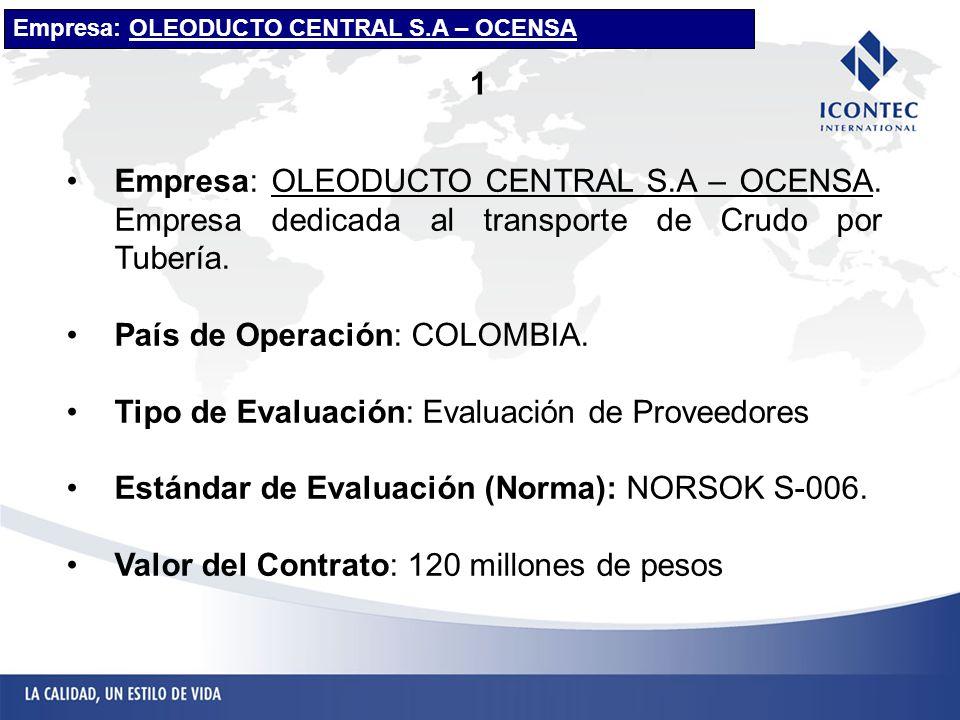 País de Operación: COLOMBIA.
