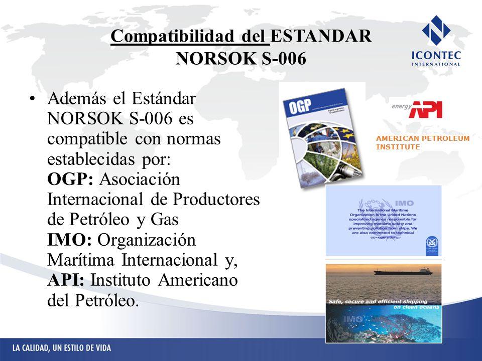 Compatibilidad del ESTANDAR NORSOK S-006