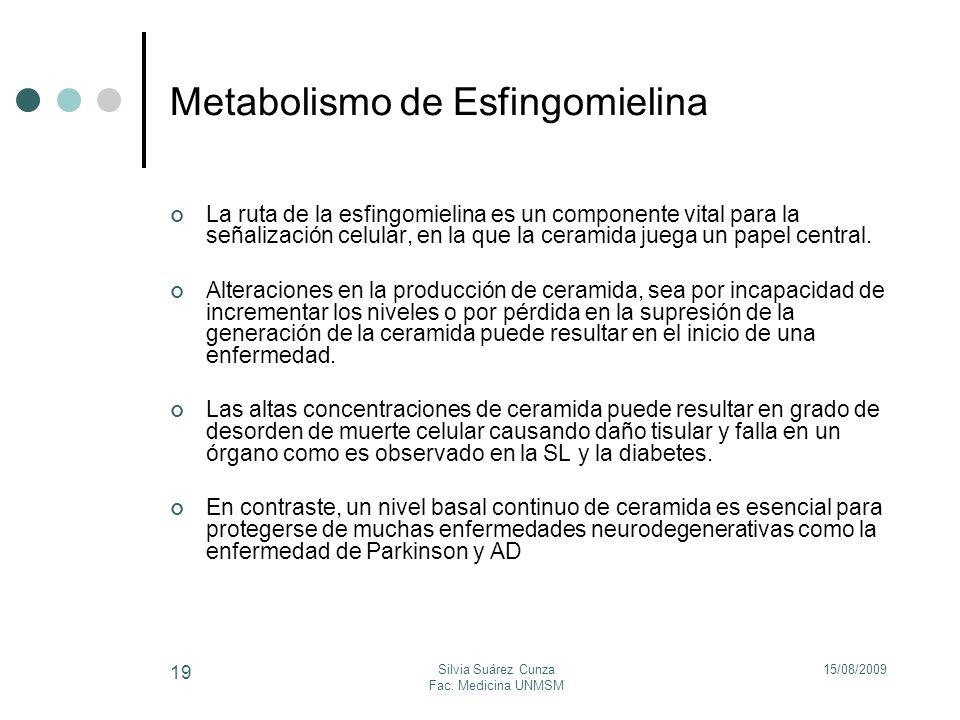Metabolismo de Esfingomielina