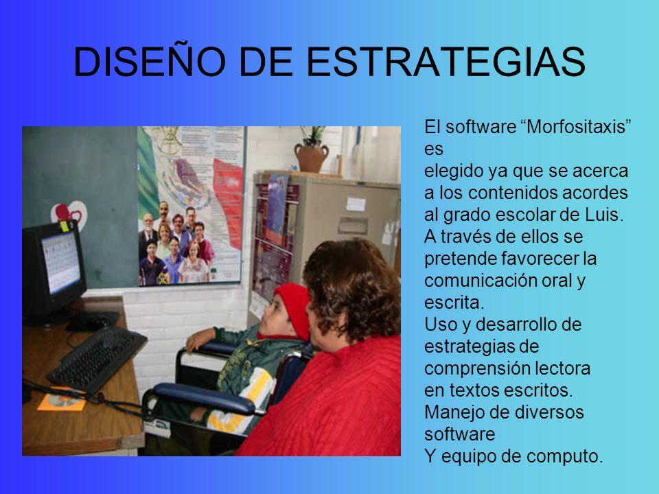DISEÑO DE ESTRATEGIAS El software Morfositaxis es