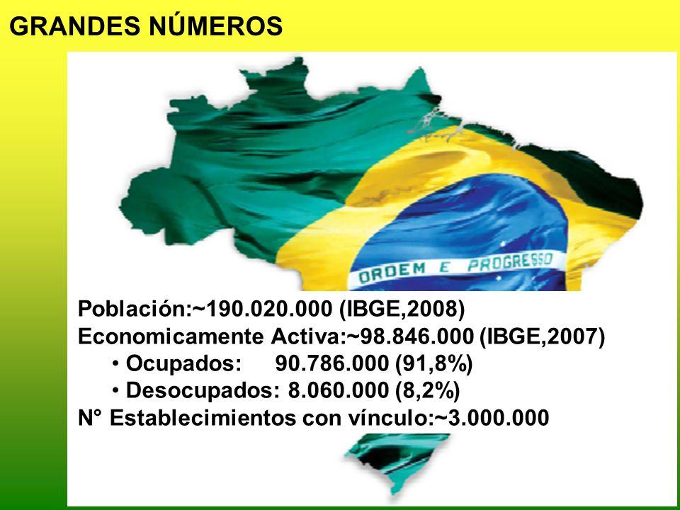 GRANDES NÚMEROS Población:~190.020.000 (IBGE,2008)