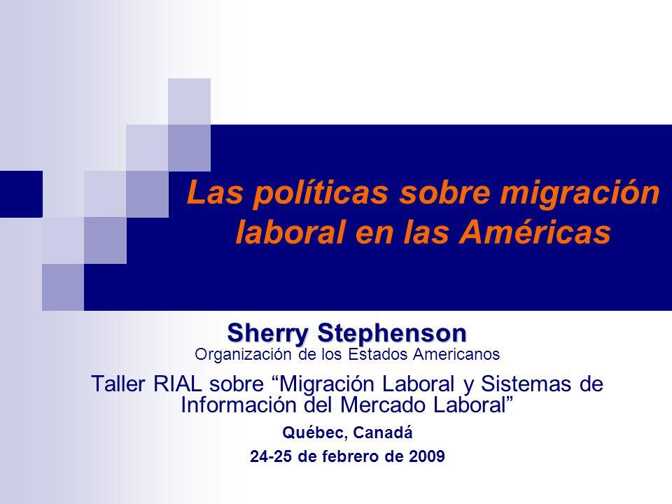 Las políticas sobre migración laboral en las Américas