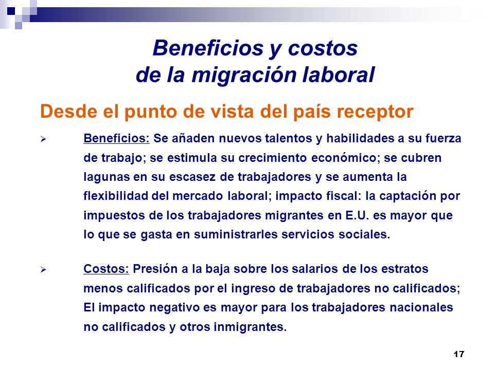 Beneficios y costos de la migración laboral