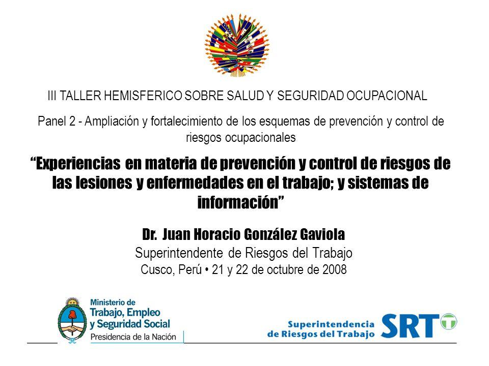 III TALLER HEMISFERICO SOBRE SALUD Y SEGURIDAD OCUPACIONAL