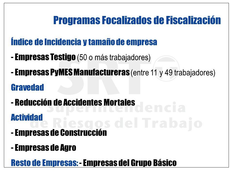 Programas Focalizados de Fiscalización
