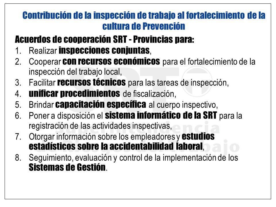 Contribución de la inspección de trabajo al fortalecimiento de la cultura de Prevención