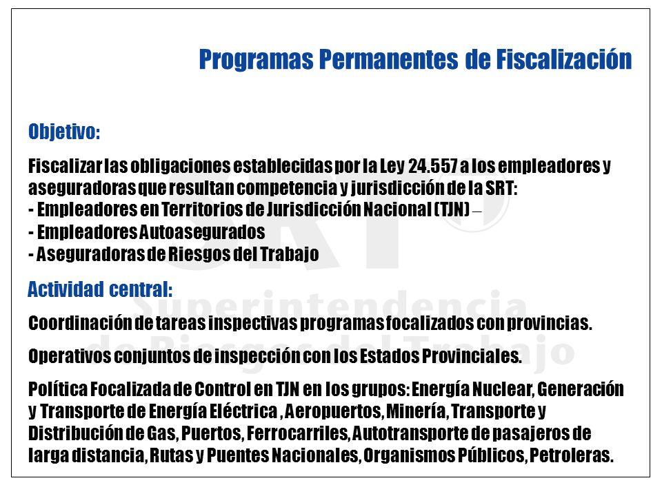 Programas Permanentes de Fiscalización
