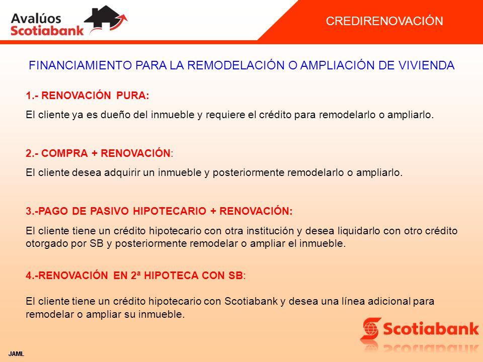 FINANCIAMIENTO PARA LA REMODELACIÓN O AMPLIACIÓN DE VIVIENDA