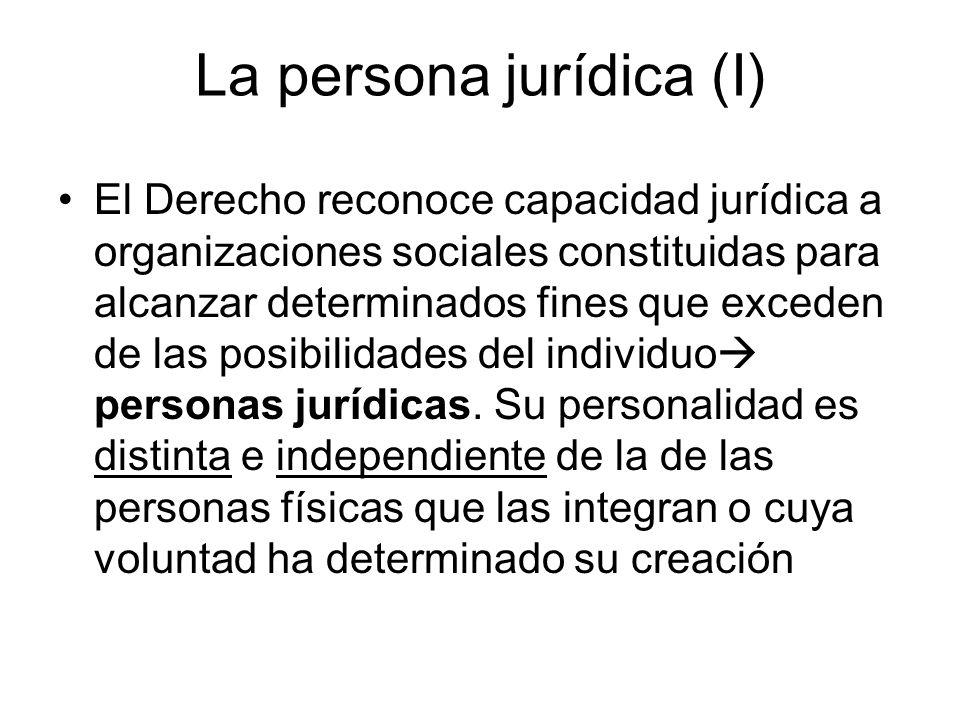 La persona jurídica (I)