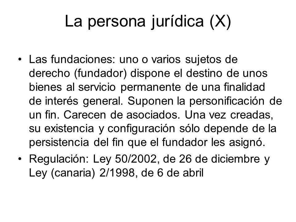 La persona jurídica (X)