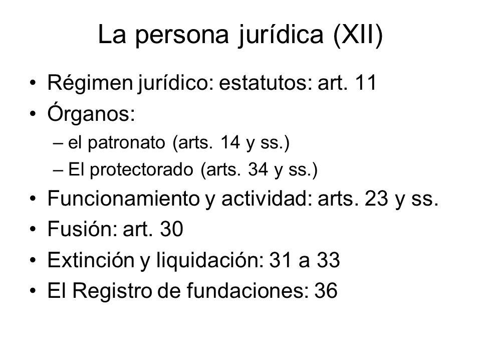 La persona jurídica (XII)