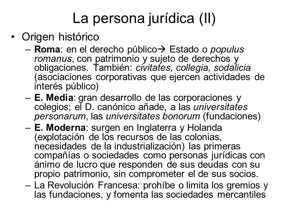La persona jurídica (II)