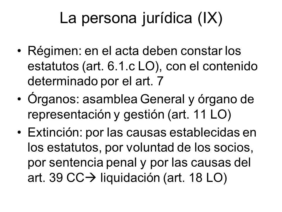 La persona jurídica (IX)