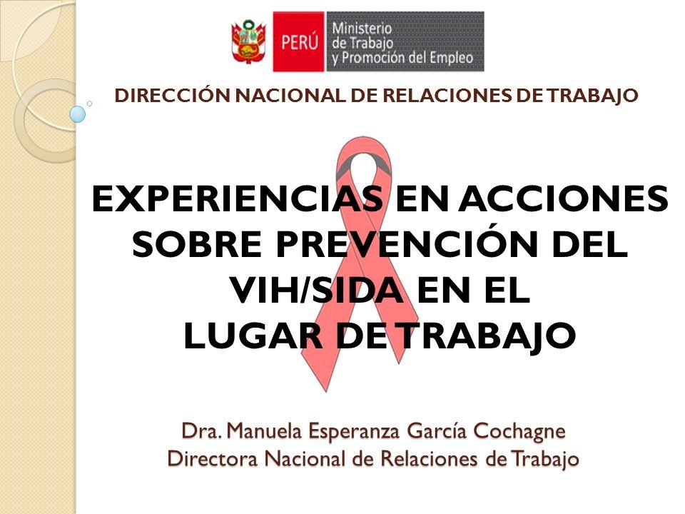 EXPERIENCIAS EN ACCIONES SOBRE PREVENCIÓN DEL VIH/SIDA EN EL