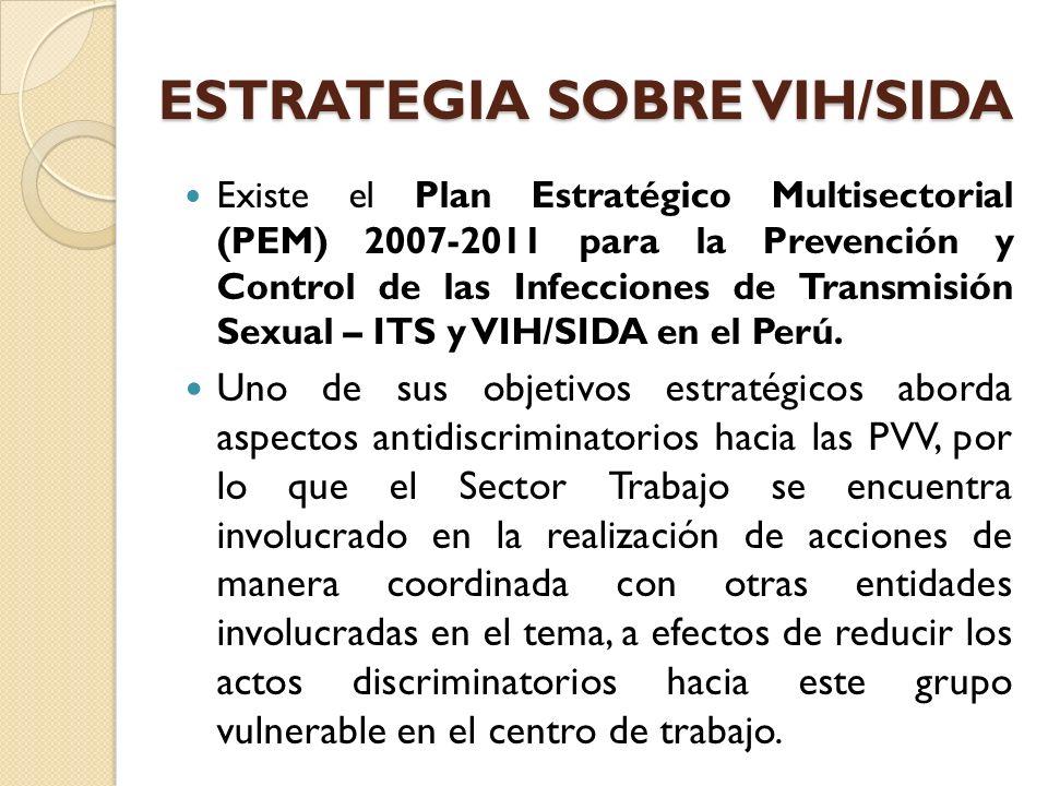 ESTRATEGIA SOBRE VIH/SIDA