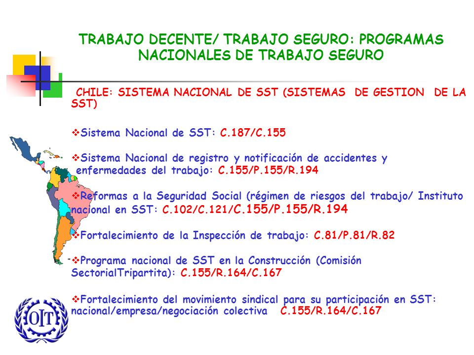 TRABAJO DECENTE/ TRABAJO SEGURO: PROGRAMAS NACIONALES DE TRABAJO SEGURO