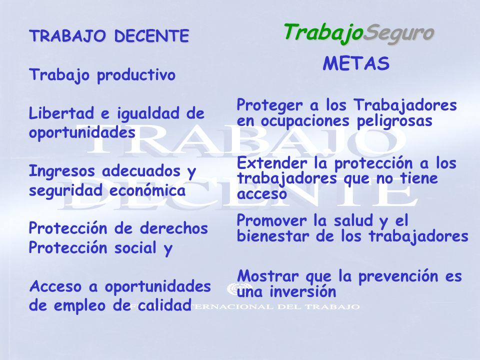 TrabajoSeguro METAS TRABAJO DECENTE Trabajo productivo