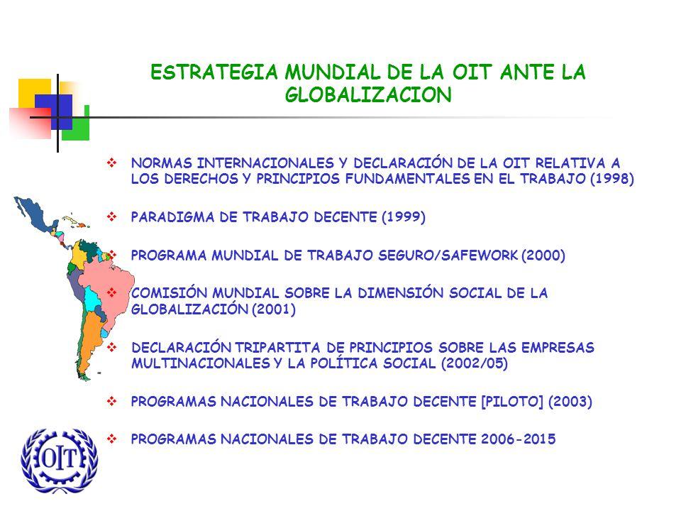 ESTRATEGIA MUNDIAL DE LA OIT ANTE LA GLOBALIZACION