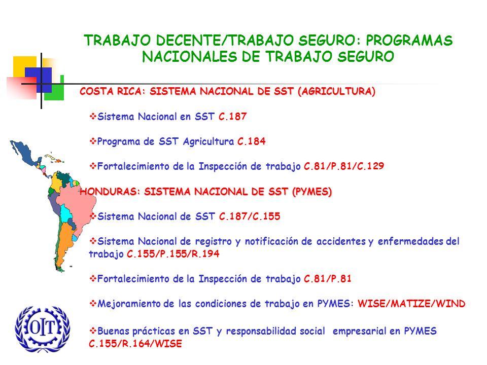 TRABAJO DECENTE/TRABAJO SEGURO: PROGRAMAS NACIONALES DE TRABAJO SEGURO