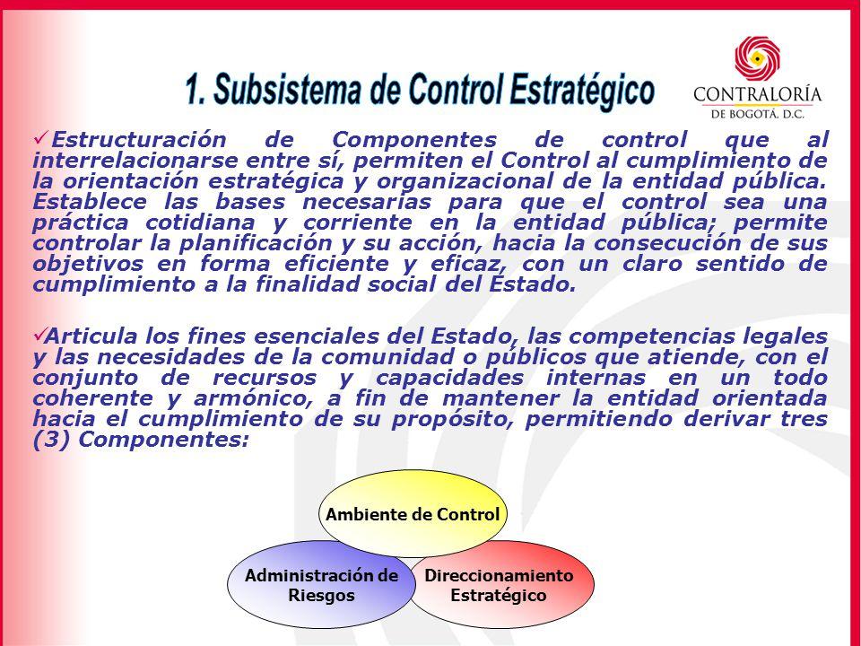 1. Subsistema de Control Estratégico