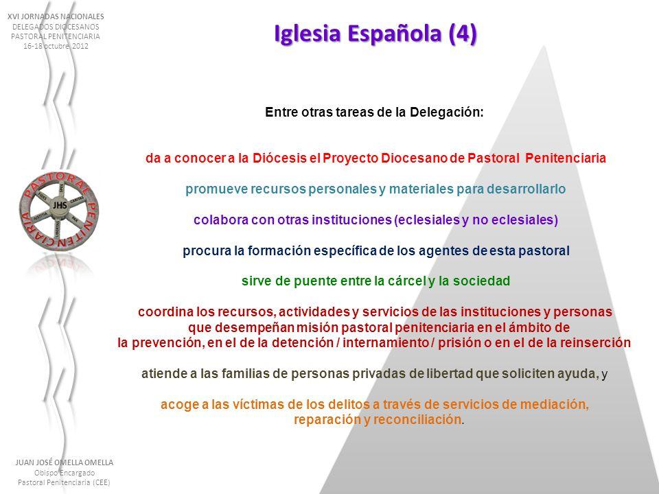 Iglesia Española (4) Entre otras tareas de la Delegación:
