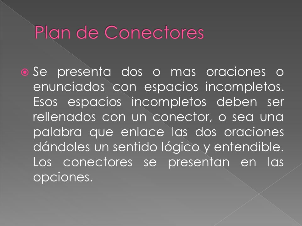 Plan de Conectores