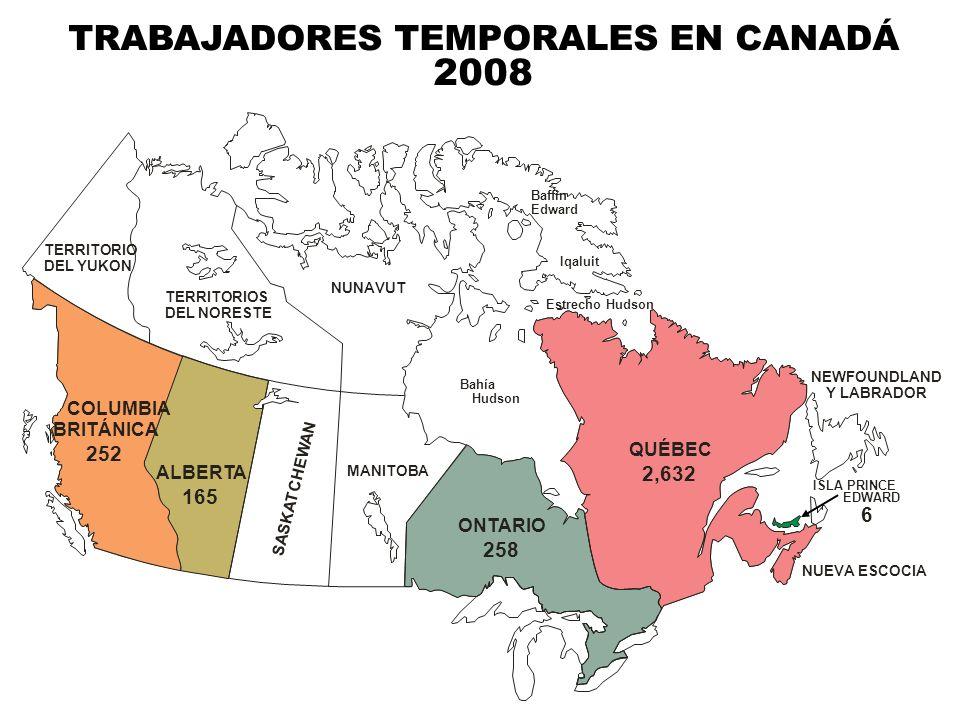 TRABAJADORES TEMPORALES EN CANADÁ