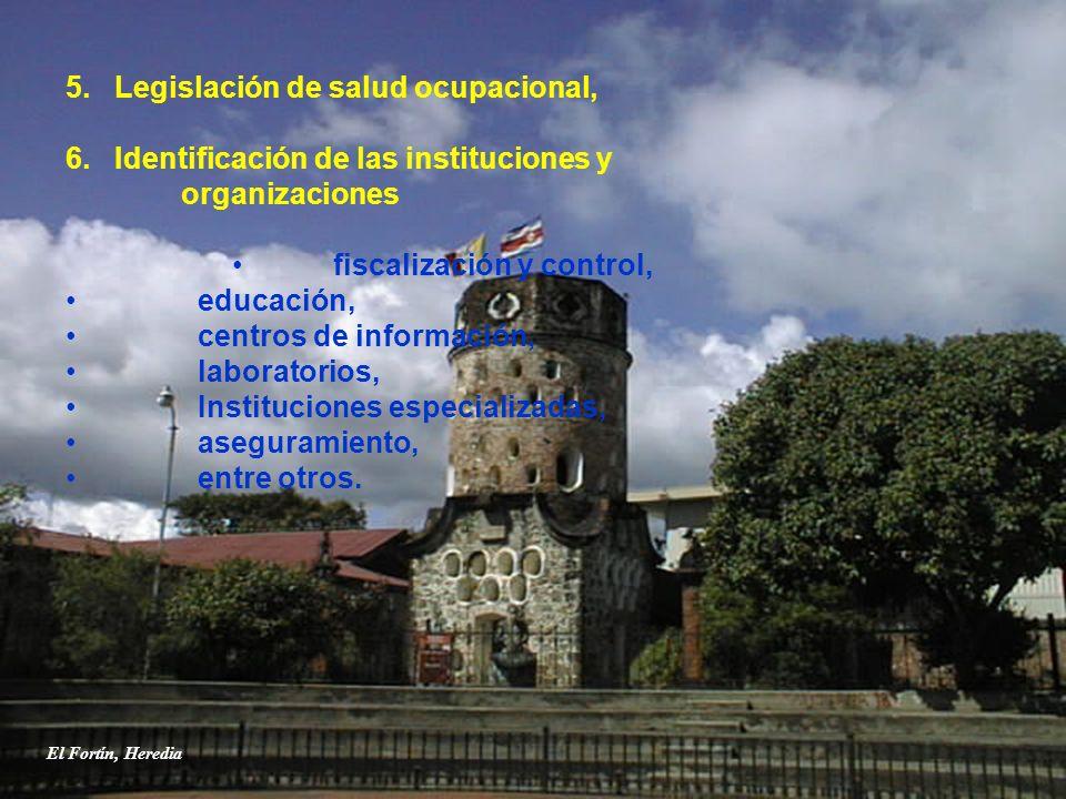 5. Legislación de salud ocupacional,
