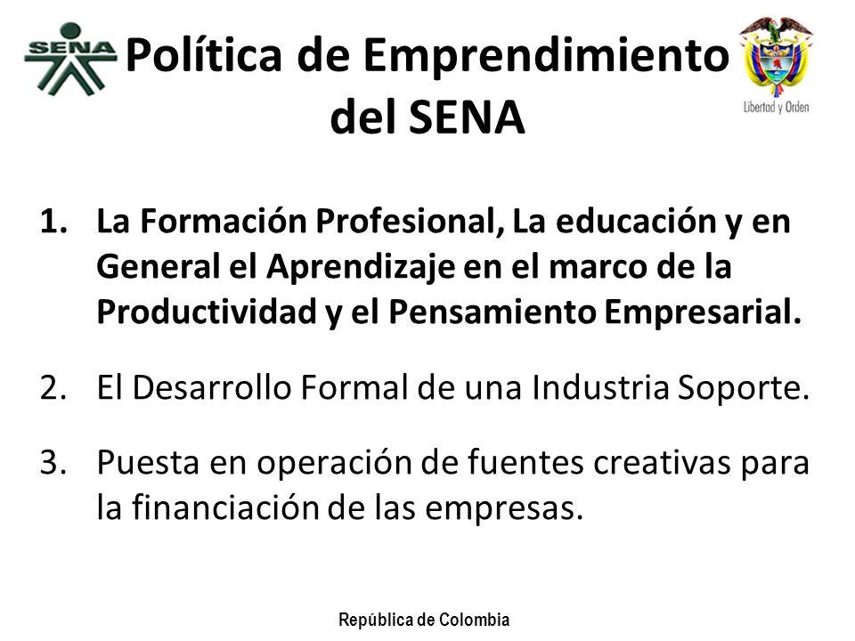 Política de Emprendimiento del SENA