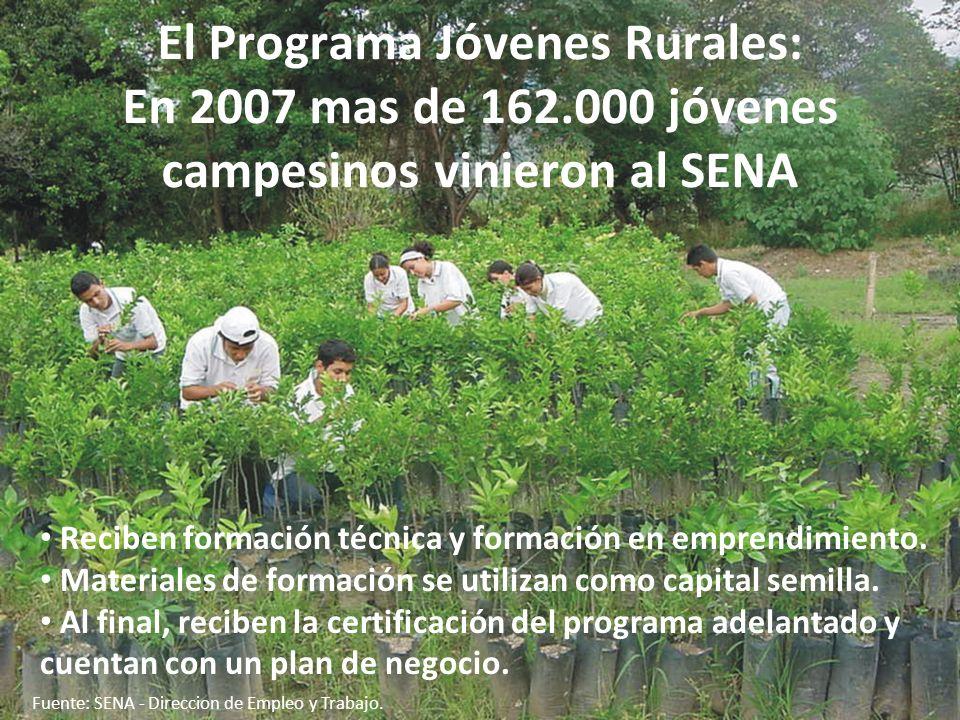 El Programa Jóvenes Rurales: En 2007 mas de 162