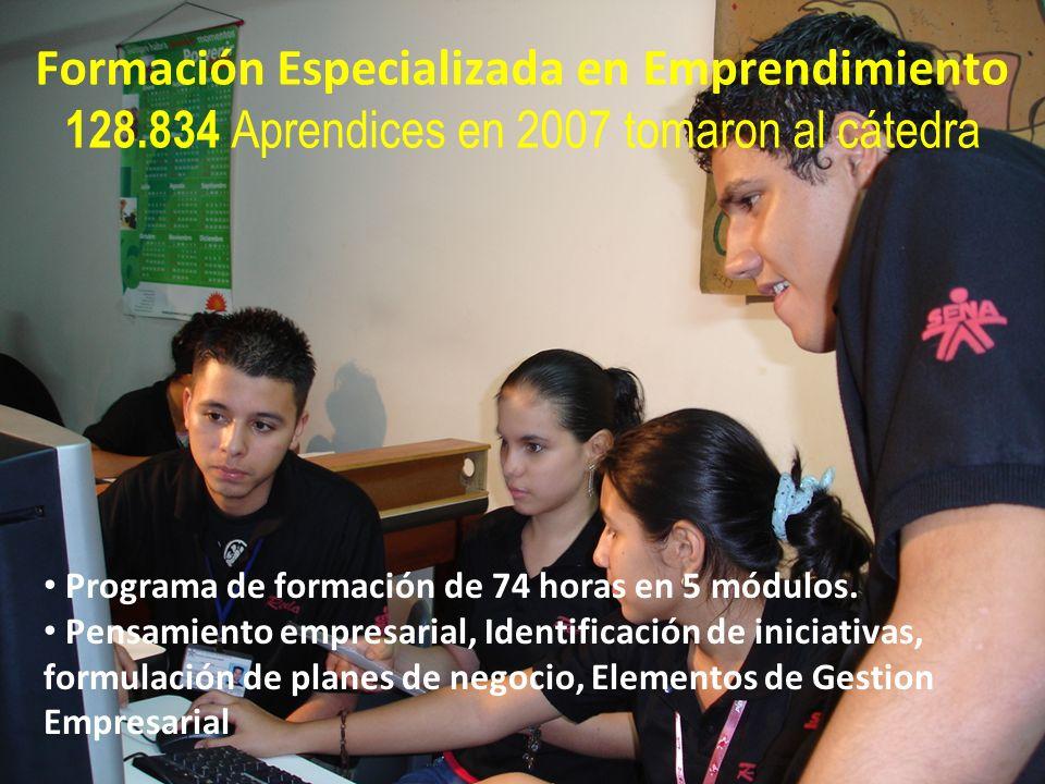 Formación Especializada en Emprendimiento 128