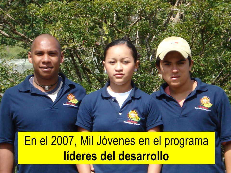 En el 2007, Mil Jóvenes en el programa líderes del desarrollo