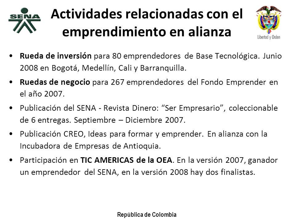 Actividades relacionadas con el emprendimiento en alianza