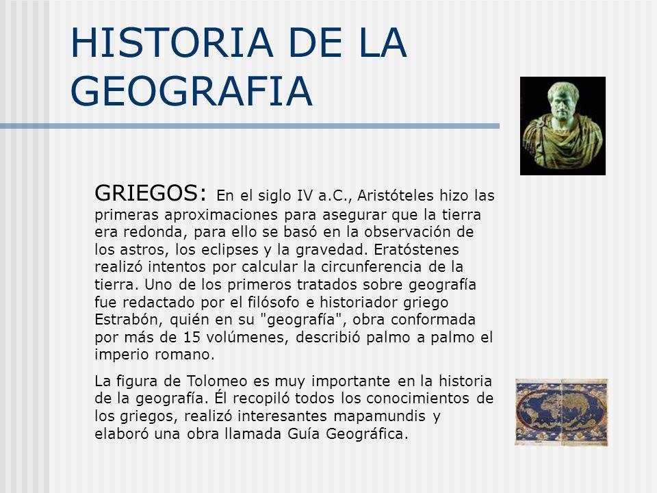 HISTORIA DE LA GEOGRAFIA