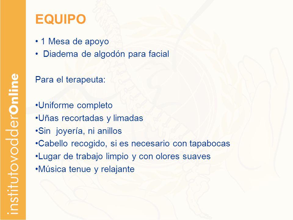 EQUIPO 1 Mesa de apoyo Diadema de algodón para facial