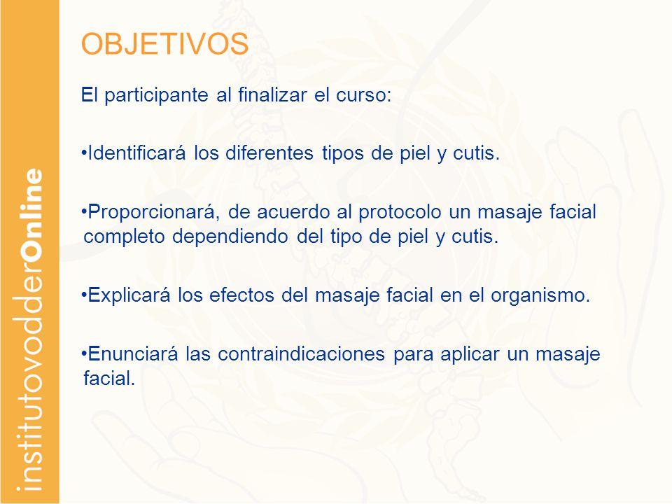 OBJETIVOS El participante al finalizar el curso: