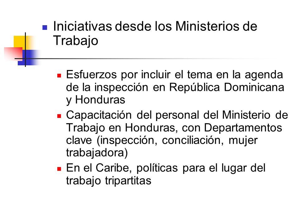 Iniciativas desde los Ministerios de Trabajo