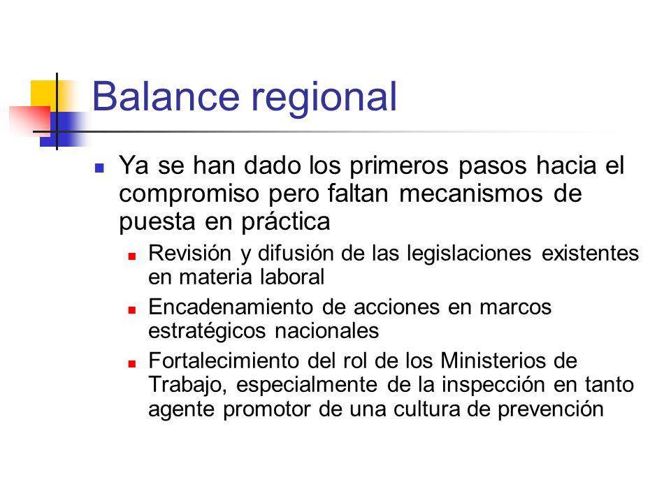 Balance regional Ya se han dado los primeros pasos hacia el compromiso pero faltan mecanismos de puesta en práctica.