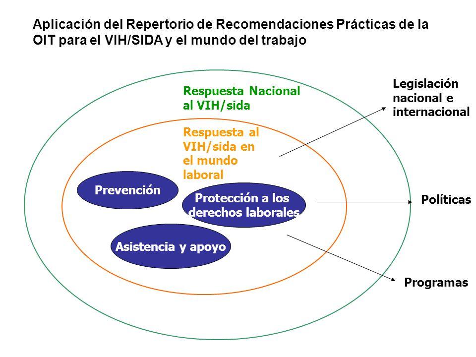 Aplicación del Repertorio de Recomendaciones Prácticas de la OIT para el VIH/SIDA y el mundo del trabajo